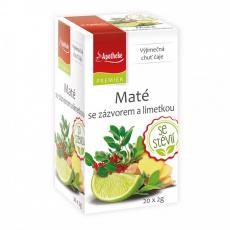 Apotheke PREMIER Maté se zázvorem a limetkou čaj 20x2g