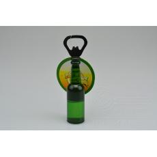 Otvírák na pivo s magnetem (14cm) - Zelený