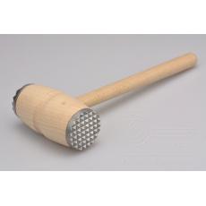 Dřevěná palička na maso s kovovými hroty (29cm)