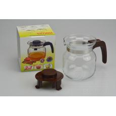 Konvice na čaj SIMAX 0,35l - Hnědá (10,5cm)