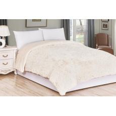 Luxusní deka s dlouhým vlasem 230x200 - Béžová