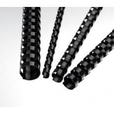 Plastové hřbety 8 mm, černé