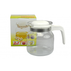 Konvice na čaj SIMAX 1l - Bílá (14,5cm)