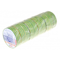 Elektrikářská páska 0.15x15mm / 5m - Žluto zelená 1 ks