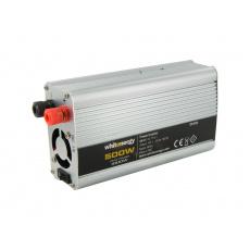 WE Měnič napětí DC/AC 12V / 230V, 500W, 2 zásuvky