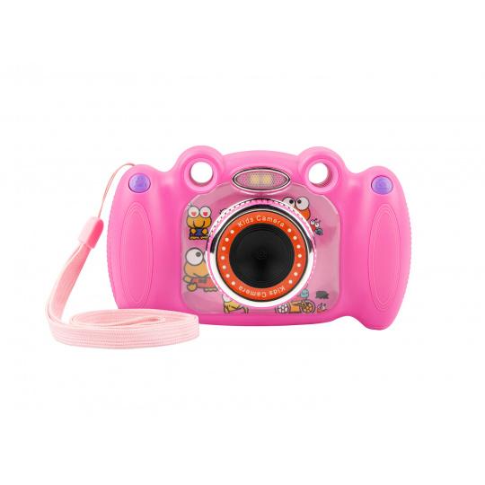 Digitální fotoaparát pro děti Ugo Froggy, růžový, 1,3mpx, video Full HD 1080 px, 2'' LCD displej