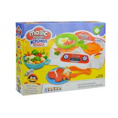Dětský 3D modelovací set s plotýnkou včetně plastelíny GAZELO 19ks