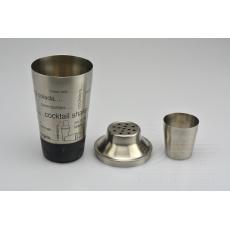 Nerezový shaker s potiskem a pogumovaným dnem 450ml (22cm)