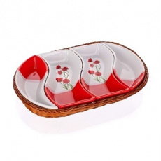 Banquet Tác v košíku RED POPpo 30,5c4d