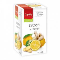 Apotheke PREMIER Citron a zázvor čaj 20x2g