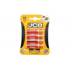Baterie JCB zinkouhlíková R06/AA, blistr 4ks