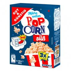 GG Popcorn do mikrovlnky, sladký 3x100g