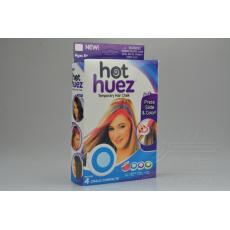 Suché barvy na vlasy HOT HUEZ - Mix barev 4ks (5cm)