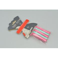 Uzavíratelné klipsy na sáčky (7cm) - Set 5ks růžové a tyrkysové