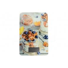 Skleněná kuchyňská digitální váha EH (23x15cm) do 5kg - Cereálie