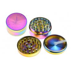 Kovová drtička (5cm) - Duhová, mix vzorů