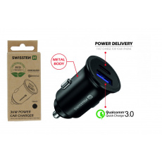 CL adaptér Power Delivery USB-C + Quick Charge 3.0 36 W metal (ECO BALENÍ)