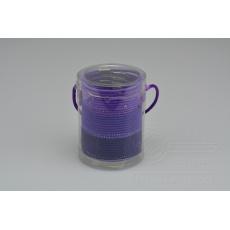 Set 30ks gumiček do vlasů (průměr 5cm) - Odstíny fialové