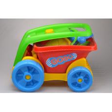 Dětská sada na písek s vozítkem MARIOINEX - Korba plná výbavy na pískoviště (49cm)