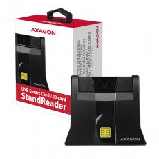 AXAGON CRE-SM4, USB externí StandReader čtečka kontaktních karet Smart card (eObčanka)