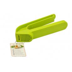 Plastový lis na česnek - Zelený (17cm)
